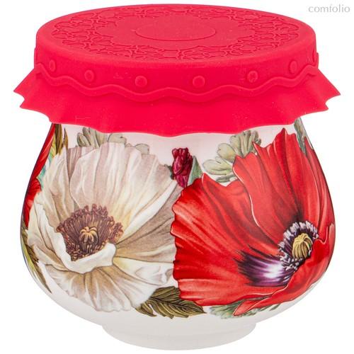 Баночка С Силиконовой Крышкой Маки 300 мл - Shunxiang Porcelain