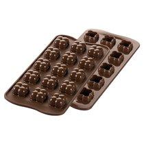 Форма для приготовления конфет Choco Game 11 х 24 см силиконовая - Silikomart