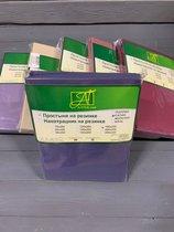 ПР-СО-Р-160-ИНД Индиго простыня Сатин однотонный на резинке 160х200х25, цвет индиго - АльВиТек