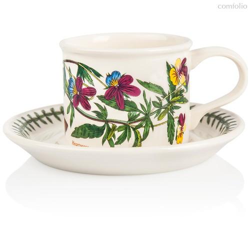 """Чашка чайная с блюдцем Portmeirion """"Ботанический сад.Фиалка трехцветная"""" 200мл - Portmeirion"""