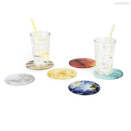 Подставка под стаканы Planets 6шт., цвет разноцветный - Balvi