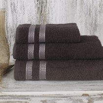 Полотенце махровое Karna Petek, цвет коричневый, 70x140 - Bilge Tekstil