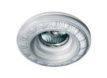 Donolux Decoro Светильник встраиваемый гипсовый, белый D 120 H 20 мм, галог. лампа MR16 GU5,3 - Donolux