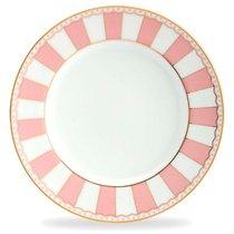 """Тарелка десертная 21см """"Карнавал"""" (розовая полоска), цвет розовый - Noritake"""