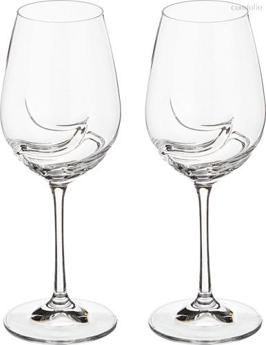 Набор бокалов для вина из 2 шт. TURBULENCE 350 МЛ ВЫСОТА=22,5 СМ (КОР=24Набор.) - Crystalex