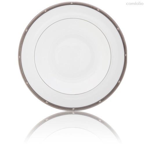"""Тарелка суповая 21,5см """"Рочель, платиновый кант"""" - Noritake"""