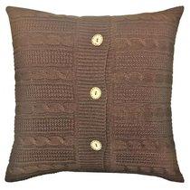 "Вязаный чехол для подушки ""Шоколад"", 02-V009/2, 43х43 см, цвет коричневый, 43x43 - Altali"