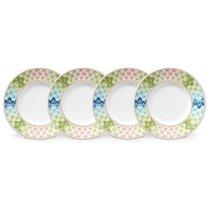 "Набор тарелок десертных Lenox ""Праздник 365"" 20см, 4шт, (зелёно-синий) - Lenox"