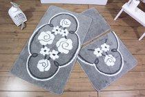Коврик для ванной DO&CO (60Х100 см/50x60 см) JADORE, цвет серый - Meteor Textile