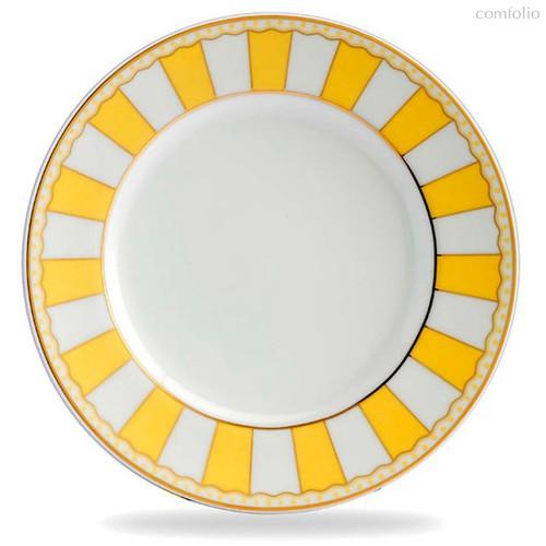 "Тарелка десертная 21см ""Карнавал"" (желтая полоска), цвет желтый - Noritake"