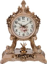 Часы Настольные Кварцевые Золотые Цветы 27, 5X16, 5X37 см Диаметр Циферблата 13 см - Shantou Lisheng