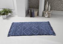 """Коврик для ванной """"MODALIN"""" с бахромой LOTUS 50x80 см 1/1, цвет синий, 50x80 - Bilge Tekstil"""