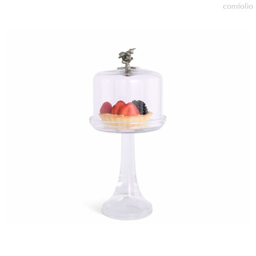 Блюдо для торта Vagabond House Пчелы и мед 33см, фарфор - Vagabond House