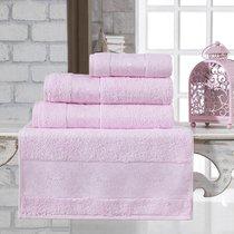 """Полотенце бамбуковое """"KARNA"""" PANDORA 70x140 см 1/1, цвет светло-розовый, 70x140 - Bilge Tekstil"""