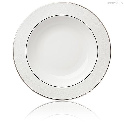 "Тарелка суповая Lenox ""Ханна,платиновый кант"" 22,5см - Lenox"