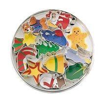 """Набор формочек для выпечки Birkmann """"Новый год"""" 3см, 12 шт (в жестяной коробке) - Birkmann"""