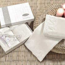 Набор махровых полотенец Karna Elinda (2 шт.), цвет кремовый, размер 50x90 - Karna (Bilge Tekstil)