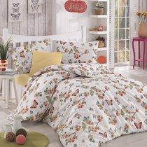 Постельное белье Ranforce Butterfle, цвет абрикосовый, 1.5-спальный - Altinbasak Tekstil