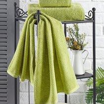 "Полотенце махровое ""KARNA"" EFOR 420 гр (70x140) см 1/1, цвет зеленый, 70x140 - Bilge Tekstil"