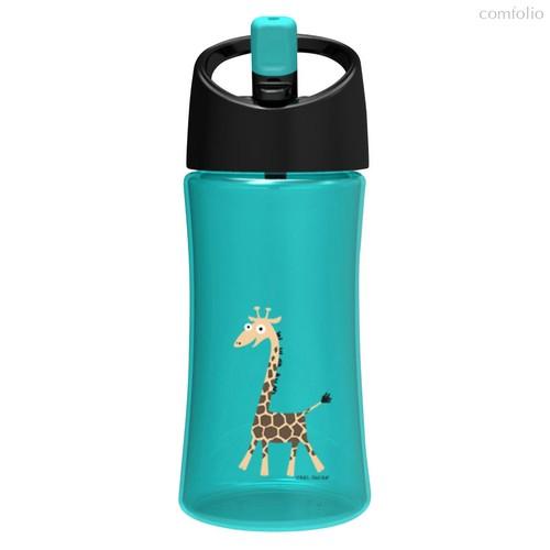 Детская бутылка для воды Carl Oscar Giraffe 0.35л бирюзовая, цвет бирюзовый - Carl Oscar