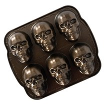 "Форма для выпечки 6 кексов 3D Nordic Ware ""Череп"" 1,2л, 32х28см - Nordic Ware"