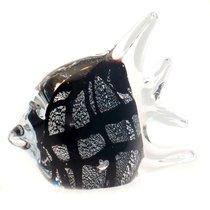 Фигурка Серебряная рыбка 12х9см - Art Glass