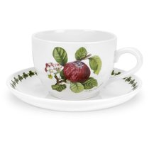 "Чашка для завтрака с блюдцем Portmeirion ""Помона.Красное яблоко"" 500мл - Portmeirion"