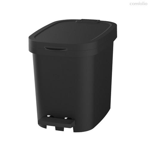 Мусорный бак с педалью BE-UTIL 10л, черный, цвет черный - Faplana
