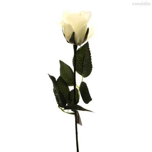 Роза Алба белая 45 см живое прикосновение (24 шт.в упак.) - Top Art Studio