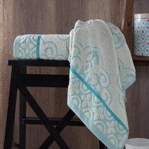 "Полотенце махровое ""KARNA"" TUNUS 70x140 см 1/1, цвет бирюзовый, 70x140 - Bilge Tekstil"