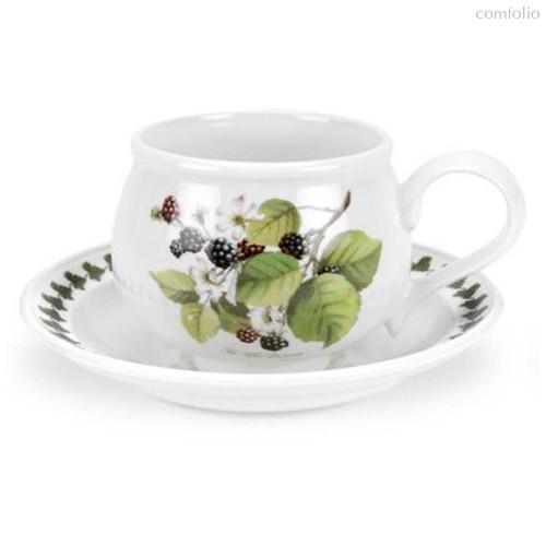"""Чашка чайная с блюдцем Portmeirion """"Помона. Ежевика"""" 200мл - Portmeirion"""