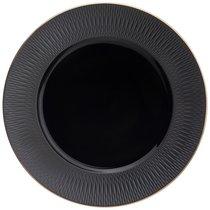 Тарелка Обеденная Bronco Crocus 27 см Черная - Porcelain Manufacturing Factory