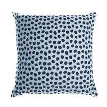 Чехол для подушки из хлопка с принтом Funky dots, серо-голубой Cuts&Pieces, 45х45 см - Tkano