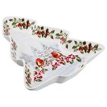 Блюдо Для Слоеных Салатов Снегири, 30*25 см Высота 4,5 см - Hangzhou Jinding