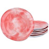 Набор Тарелок Десертных Из 6 шт. Диаметр 21 см Коллекция Парадиз Цвет Розовый Закат, цвет розовый, 21 см - Hebei Grinding Wheel Factory