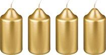 Набор Свечей из 4 шт. 10x5 см Золотой Металлик - Adpal
