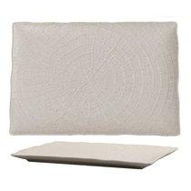 Тарелка прямоугольная 29,5х20х2см серия Elephant Ivory матовый фарфор PL Proff Cuisine, 29 см - P.L. Proff Cuisine