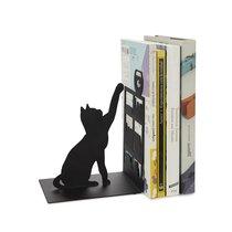Держатель для книг Fishing Cat, цвет черный - Balvi