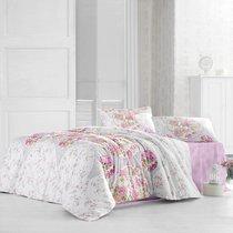 Постельное белье Ranforce Deren, цвет розовый, размер Евро - Altinbasak Tekstil