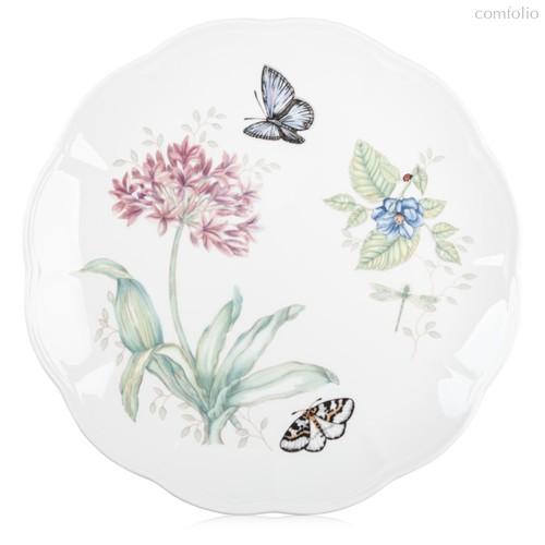 """Тарелка обеденная Lenox """"Бабочки на лугу"""" 27,5см, цвет светло-фиолетовый, 27 см - Lenox"""