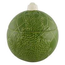 """Емкость с крышкой Bordallo Pinheiro """"Новогодние шары"""" 26см, зеленая - Bordallo Pinheiro"""