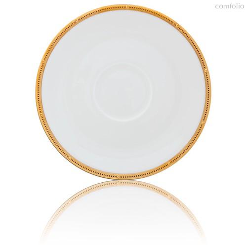 """Блюдце для чашки суповой Noritake """"Рочель,золотой кант"""" 16,5см - Noritake"""