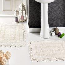 Набор кружевных ковриков Evora, цвет кремовый, размеры 50x70, 60x100 - Modalin