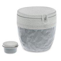 Ланч-бокс Club Bento Organic серый - Koziol
