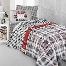 Постельное белье Ranforce Driver Team, подростковое, цвет серый, 1.5-спальный - Altinbasak Tekstil