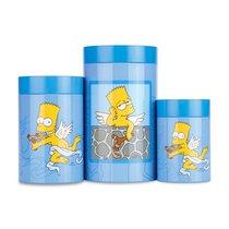 Набор 3пр баночек для печенья Simpsons, цвет синий - BergHOFF