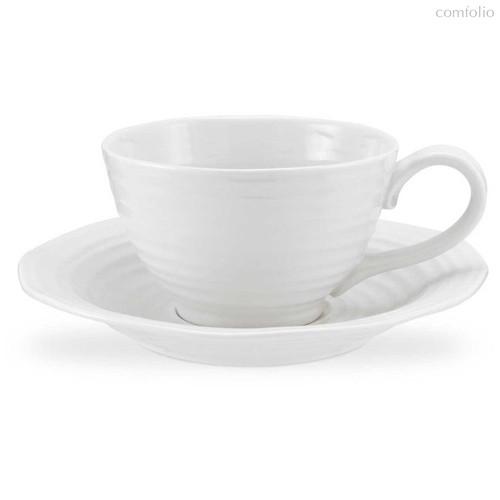 """Чашка для завтрака с блюдцем Portmeirion """"Софи Конран для Портмерион"""" 600мл (белая) - Portmeirion"""