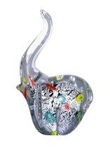 Фигурка Серебряный слоненок 10,5*15,5 см - Art Glass