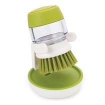 Щетка с дозатором моющего средства Palm Scrub™ зеленая - Joseph Joseph
