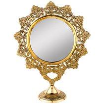 Зеркало Настольное 26X10 см Высота 33 см Латунь - ZAINCO